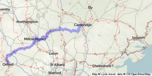 Oxford to Cambridge cycle route cycletravel