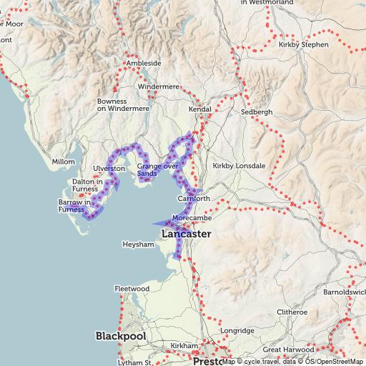 Bay Cycle Way cycle route cycletravel